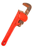 red pipe wrench poster
