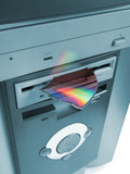 fragment of cd in floppy drive poster