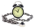 alarm clock and chain poster