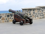 spanish cannon facing the sea poster
