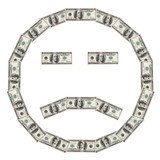 dollar smiley sad poster