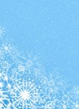 christmas fine blue background poster