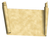 vintage scroll paper poster