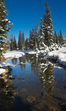 early winter in uinta mountains - lakes poster