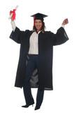 happy woman at graduation poster