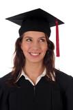 female student graduating poster
