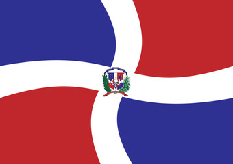 dominican flag waving