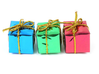 three colorful gifts
