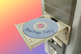 disc backup copy in tray poster