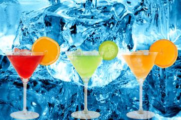 colorful cocktails