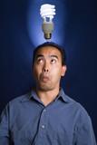 fluorescent bulb idea poster
