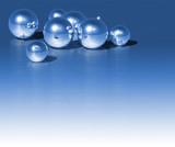 Fototapety christmas blue ball