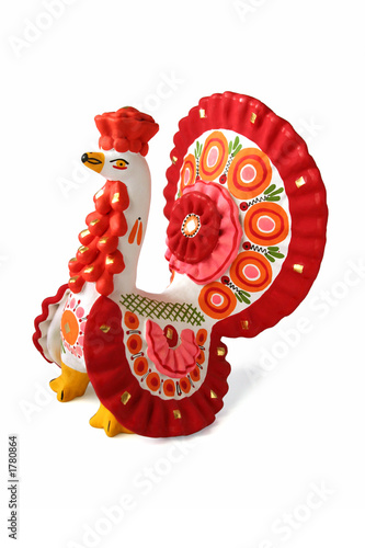 "turkey cock - russian traditional toy ""dymkovskaya""."