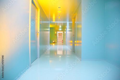 turquois hallway