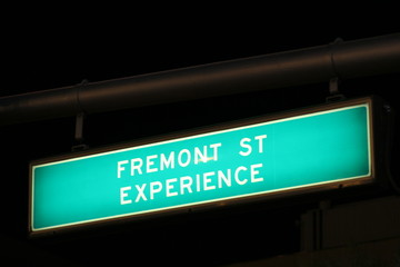 las vegas fremont street traffic sign