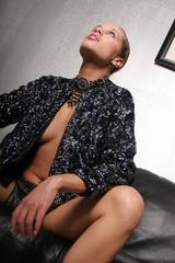 sexy biracial woman