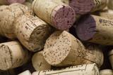 wine cork background. poster