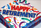 retirement party poster