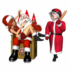 santa and helper 2