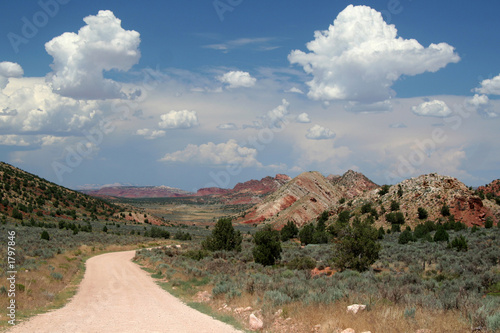 remote desert dirt road