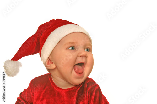 christmas baby shrieking