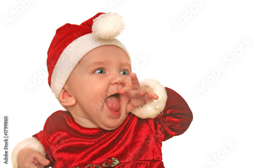 christmas baby in awe