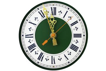 dial of analog clock