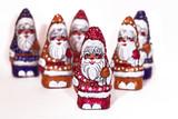 skupina čokolády santa