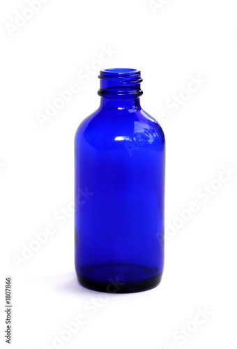 blue medicine bottle