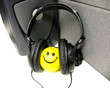 smile in headphones