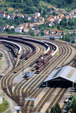 railway junction capdenac gare aveyron midi pyrene poster