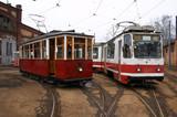 Fototapeta retro - pociągi - Kolej