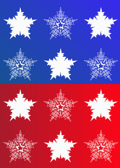 snowflake red and blue