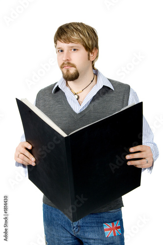 poster of young man with folder