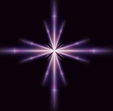 single purple star poster