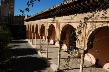 innenhof eines nasriden palastes, alhambra