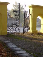 a gate of a smolensk lutheran cemetery
