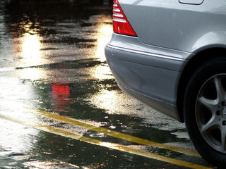 silver car in rain 03