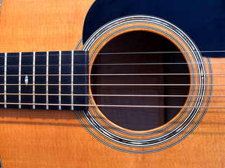 guitar sound hole closeup
