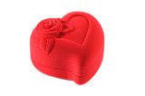 heart-shaped closed jewelry box poster