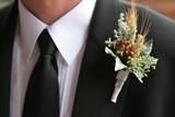 groom boutinerre flower tux dress formal wedding poster