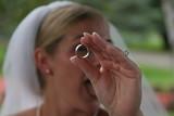 metal ring bride peek a boo wedding band platinum poster