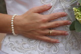 hand engagement ring bride dress white jewelry poster