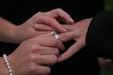 sign of love exchanging ring band metal platinum poster