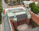 aerial view of stockholm city hall poster