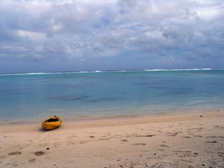 beached kayak