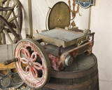 old pioneer era radial saw poster