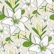 roleta: seamless lily wallpaper pattern