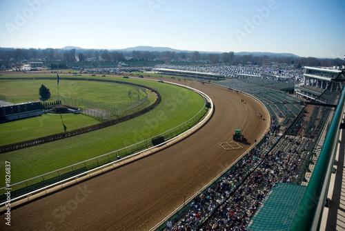 Fotobehang Paardrijden horse track