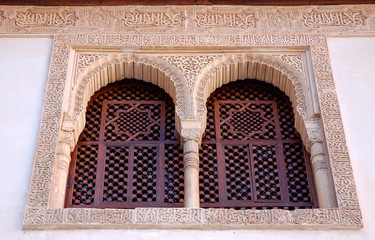 fenster im nasriden palast, alhambra